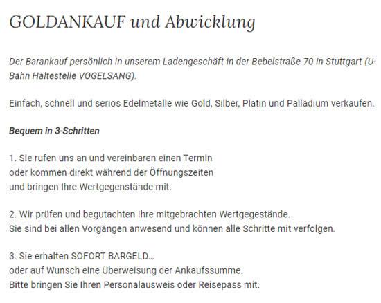 Gold Verkauf für  Rutesheim
