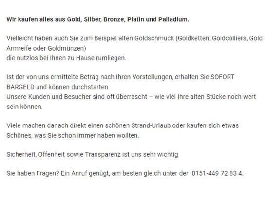 Goldschmuck verkaufen in  Gablenberg (Stuttgart)