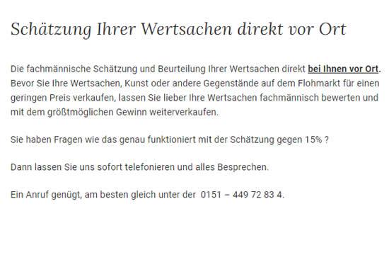 Wertsachen Gutachter 1 in  Solitude (Stuttgart)