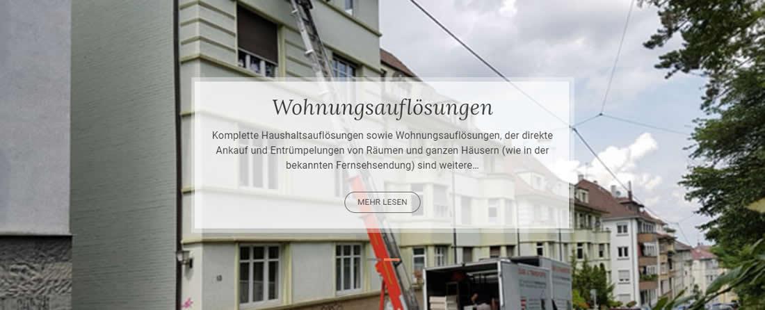 Haushaltsauflösung Nord (Stuttgart) 🥇 KLEOPATRA ✔ Entrümpelung, Betriebsauflösung